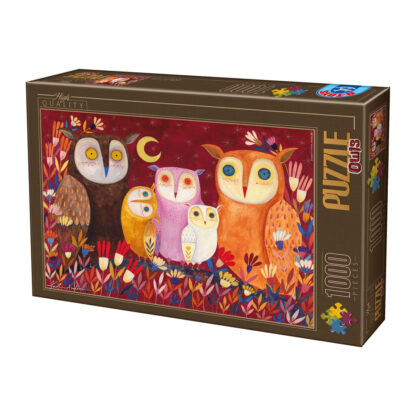 Soul Puzzles D Toys Cardboard Puzzles 1000 pieces Kurti Andrea - Owls