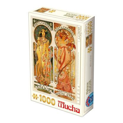 Soul Puzzles D Toys Cardboard Puzzles 1000 pieces | Mucha Alphonse - Moët et Chandon : Crémant Impérial