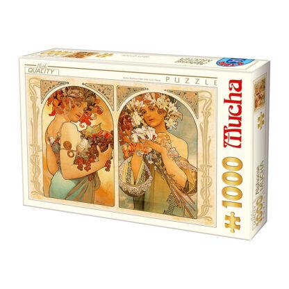 Soul Puzzles D Toys Cardboard Puzzles 1000 pieces Mucha Alphonse - Fruit Flower