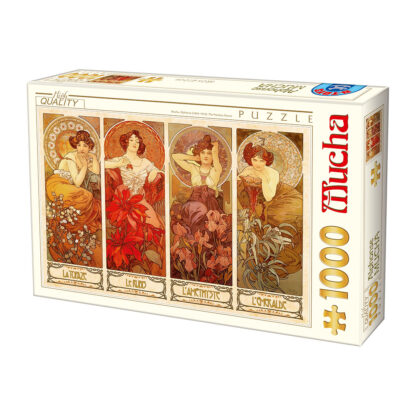 Soul Puzzles D Toys Cardboard Puzzles 1000 pieces | Mucha Alphonse - The Precious Stones