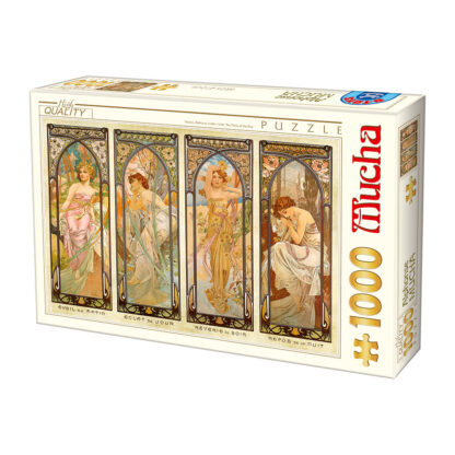 Soul Puzzles D Toys Cardboard Puzzles 1000 pieces Mucha Alphonse - The Times of the Day