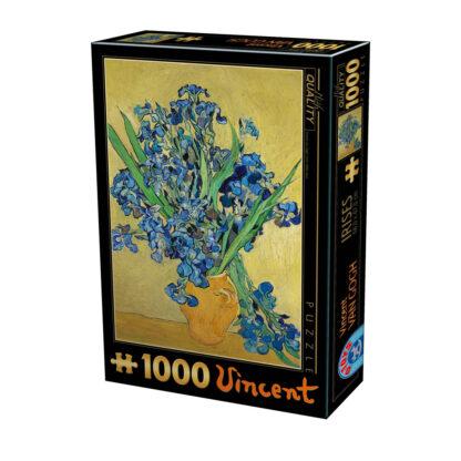 Soul Puzzles D Toys Cardboard Puzzles 1000 pieces Vincent van Gogh - Irises in a Vase
