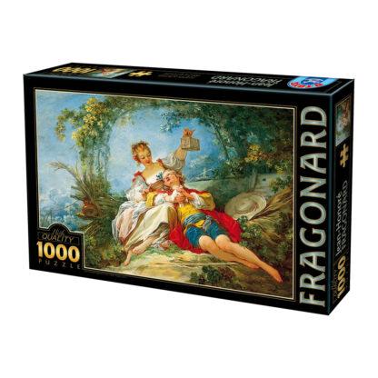 Soul Puzzles D Toys Cardboard Puzzles 1000 pieces Fragonard - Happy Lovers