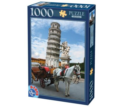 Soul Puzzles D Toys Cardboard Puzzles 1000 pieces | Leaning Tower of Pisa, Italy