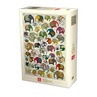 Soul Puzzles D Toys Cardboard Puzzles 1000 pieces | Pattern - Indian Elephants