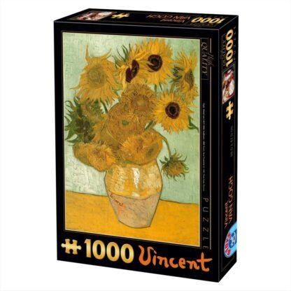 Soul Puzzles D Toys Cardboard Puzzles 1000 pieces Vincent van Gogh - Sunflowers