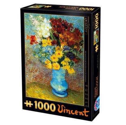 Soul Puzzles D Toys Cardboard Puzzles 1000 pieces Vincent van Gogh - Flowers in a Blue Vase