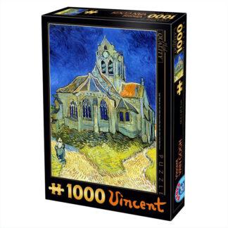 Soul Puzzles D Toys Cardboard Puzzles 1000 pieces Vincent van Gogh Vincent - The Church at Auvers