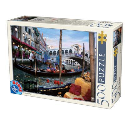 Soul Puzzles | D Toys | Cardboard Puzzles - 500 pieces | Canal Bridge Venice