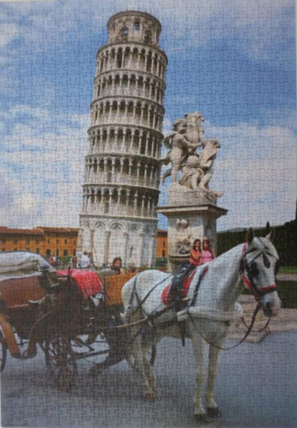 Soul Puzzles D Toys Cardboard Puzzles 1000 pieces   Leaning Tower of Pisa, Italy