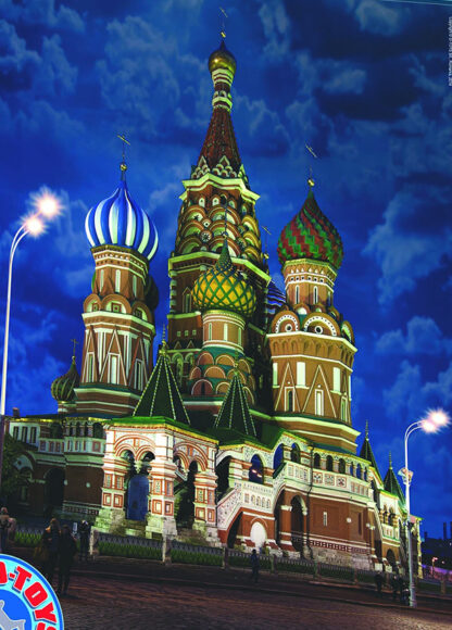 Soul Puzzles D Toys Cardboard Puzzles 1000 pieces | Night Landscapes - Saint Basil's Cathedral, Russia