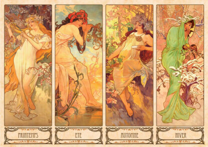 Soul Puzzles D Toys Cardboard Puzzles 1000 pieces | Mucha Alphonse - Seasons I