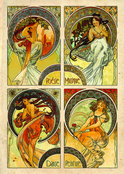 Soul Puzzles D Toys Cardboard Puzzles 1000 pieces | Alphonse Mucha - The Arts