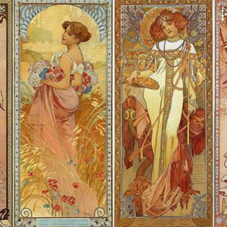 Soul Puzzles D Toys Cardboard Puzzles 1000 pieces | Mucha Alphonse - Seasons II