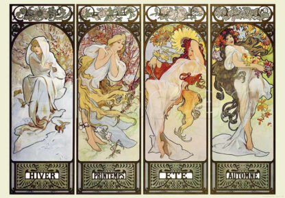 Soul Puzzles D Toys Cardboard Puzzles 1000 pieces | Mucha Alphonse - Seasons III
