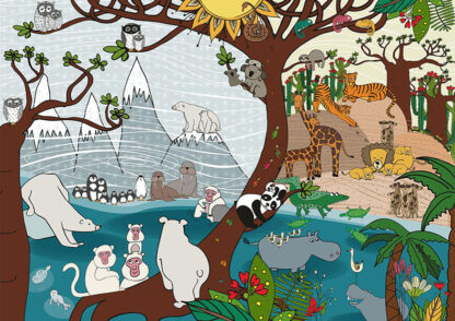 Soul Puzzles D Toys Cardboard Puzzles 1000 pieces | Nature - Summer and Winter