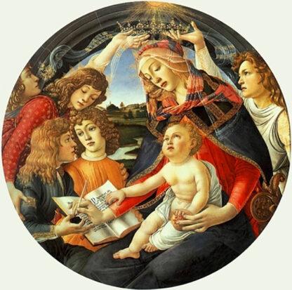 Soul Puzzles D Toys Cardboard Puzzles - 525 Pieces Madonna del Magnifica - Botticelli
